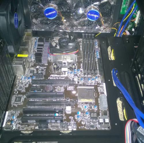 Internal view of the beginning of a gaming build!